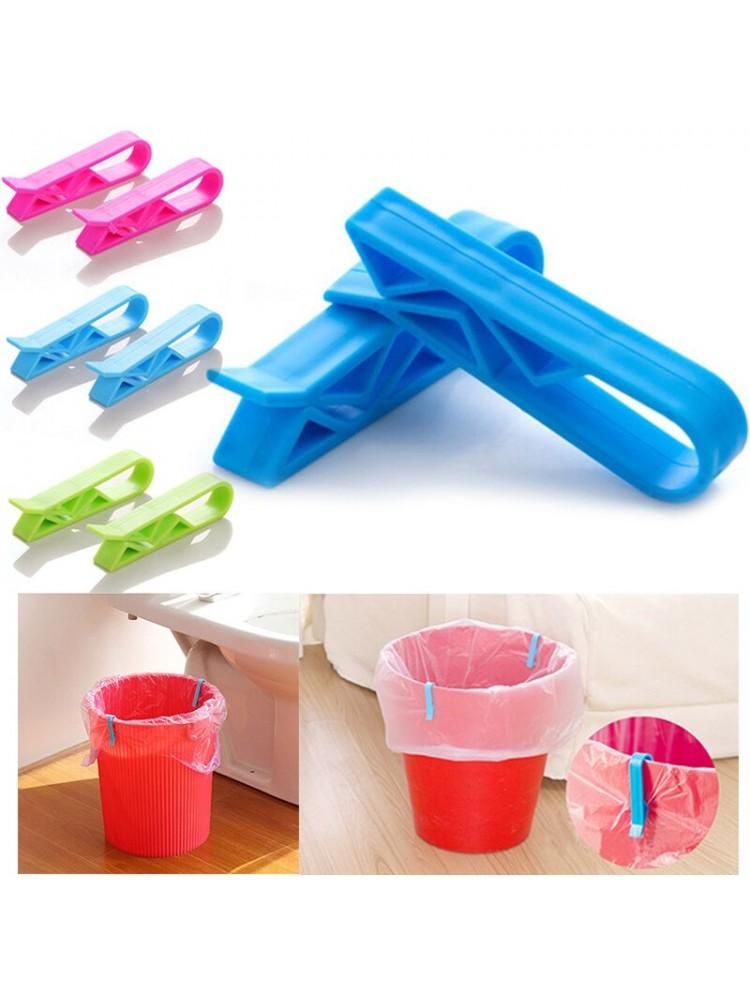 2vnt buitinio plastikinio šiukšlių maišo segtukas